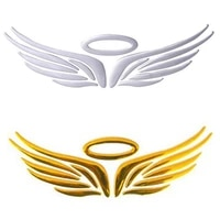 3d angel fairy wing pattern car auto truck badge sticker windshield door decor