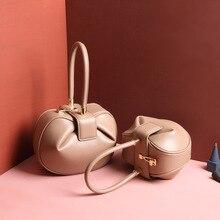 Burminsa femmes à la mode en cuir véritable sacs à main conception sphérique petites dames sacs à main de haute qualité balle partie femme fourre-tout sacs