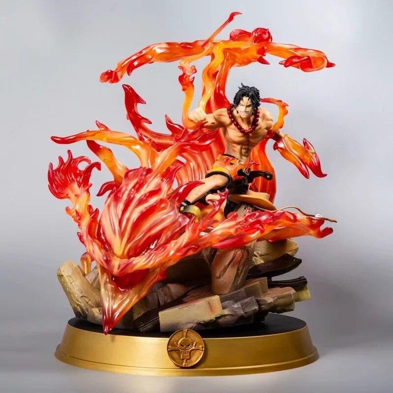 Una pieza de la guerra Ace DE FUEGO puños Ace GK estatua caja de Kit de modelismo muñeca