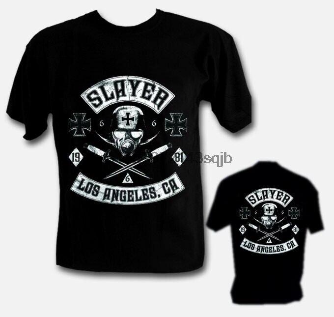 SLAYER LOS ANGELES Men Cotton T-shirt Rock Metal Top Camiseta Maglietta