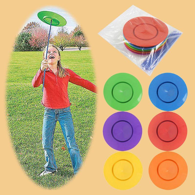 OOTDTY 6 шт./компл. спиннинговые пластины для жонглирования, палочки, поворотный стол, акробатические характеристики, Товары для детей и взросл...