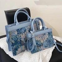 2021 printing flowers designer womens tote luxury ladies handbags designer lady travel branded crossbody shoulder bags