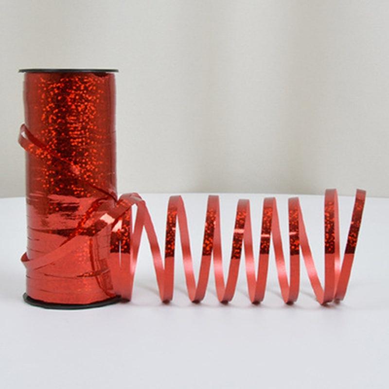 Globo cuerda 100 yardas láser Arco Iris cinta decoración para fiesta de boda hecho a mano cinta de envoltura para regalo arcos del pelo de Ribbon7-