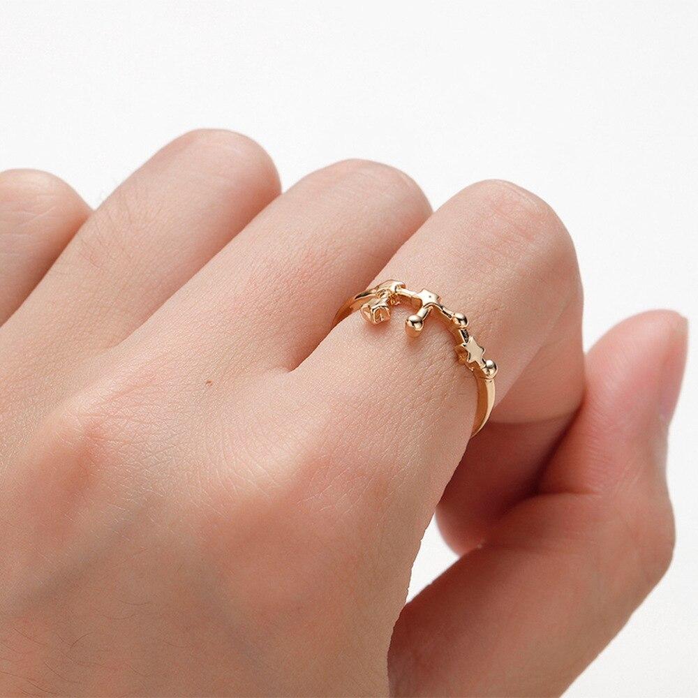 12 anillos clásicos del zodiaco hechos a mano con 12 Constelaciones para mujer, bodas, joyería de moda para regalo de cumpleaños 2020