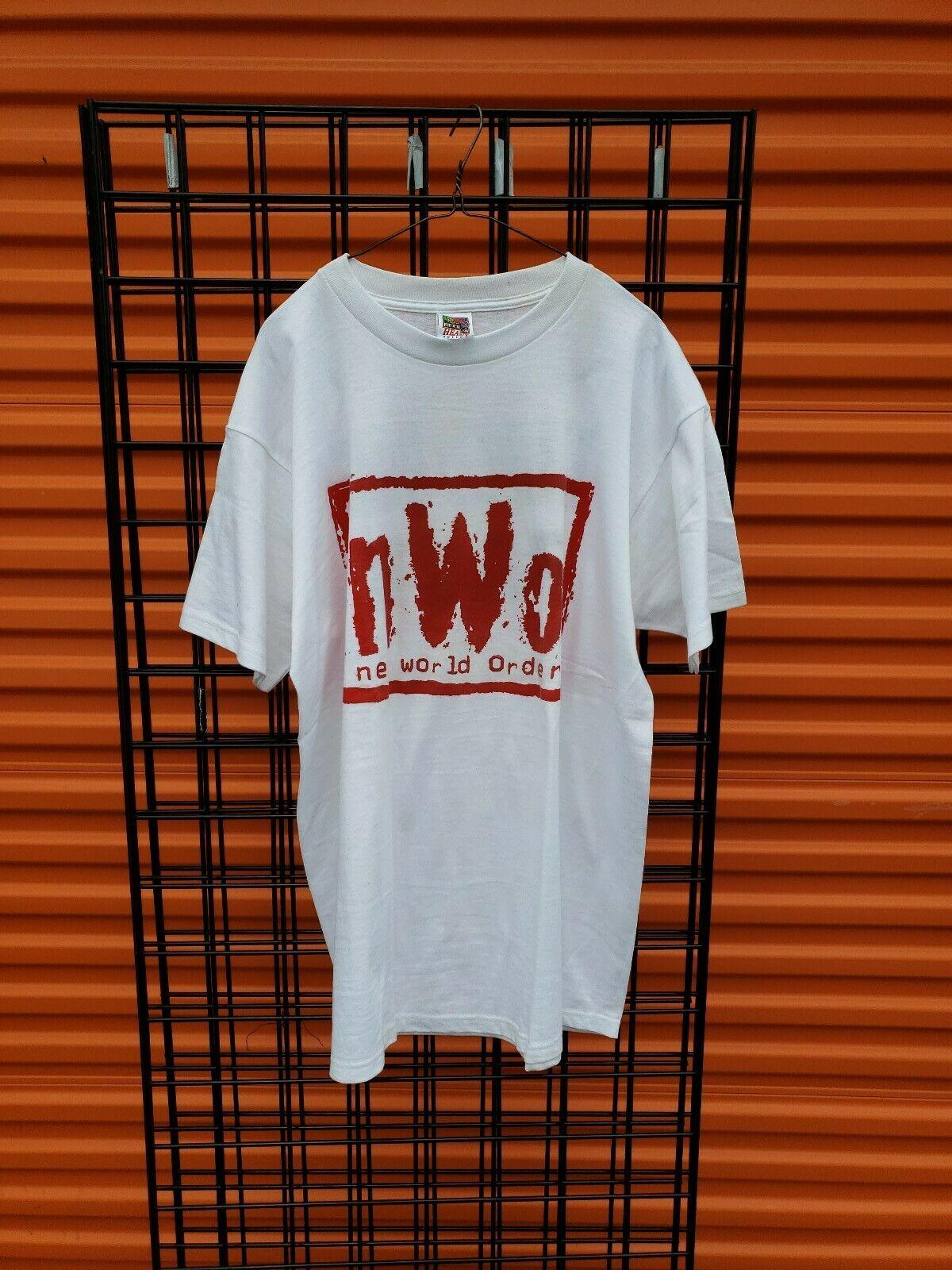 90S Nwo Wolf Pack Vintage lucha camisa