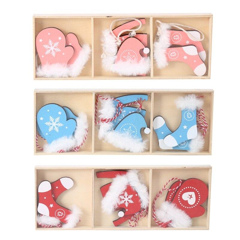 Рождественские деревянные подвески Zerolife, подвесные украшения для рождественской елки, украшения для дома, детские игрушки, подарок, Рождес...