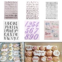 cake decorating tools alphabet fondant cake stamp silicone mold letters biscuit fondant mold baking tools cake embosser stamp