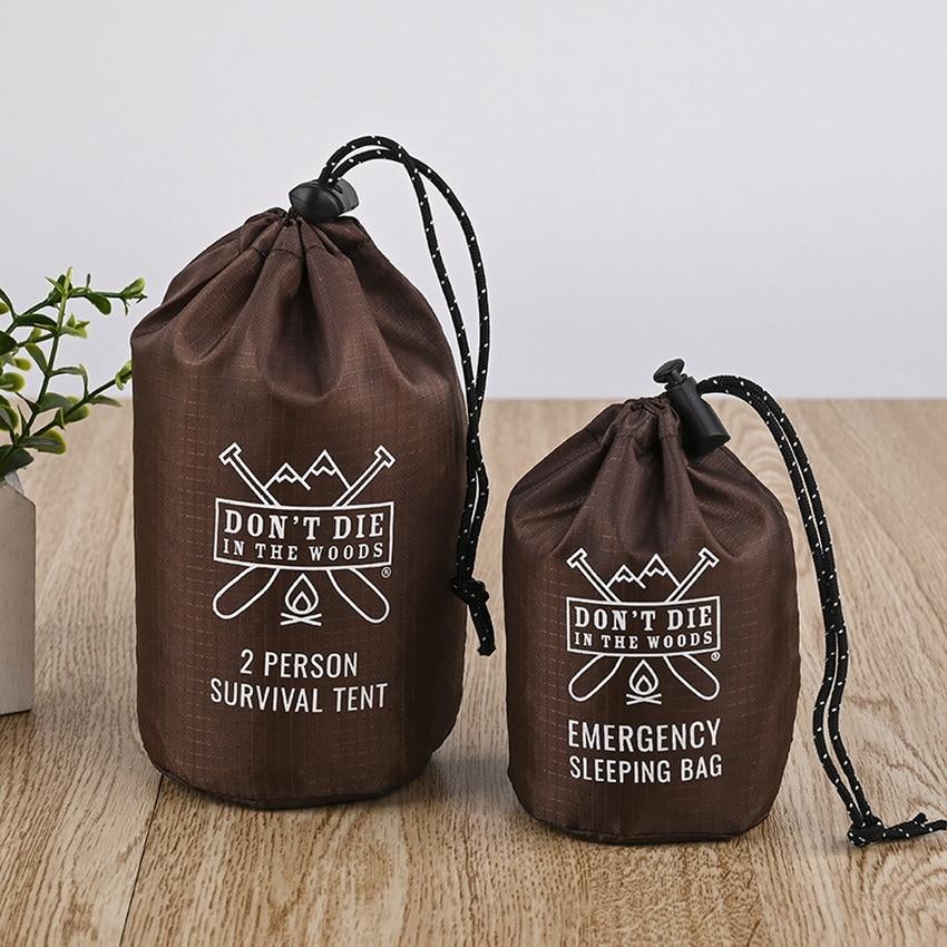 Custom Nylon Round Drawstring Bag For Survival Tent or Emergency Sleeping Promotional Bag