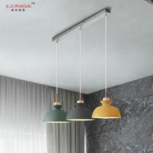 Nordique Simple moderne chambre chevet personnalité barre fer riz tasse suspension lumière Restaurant suspension lampe luminaria