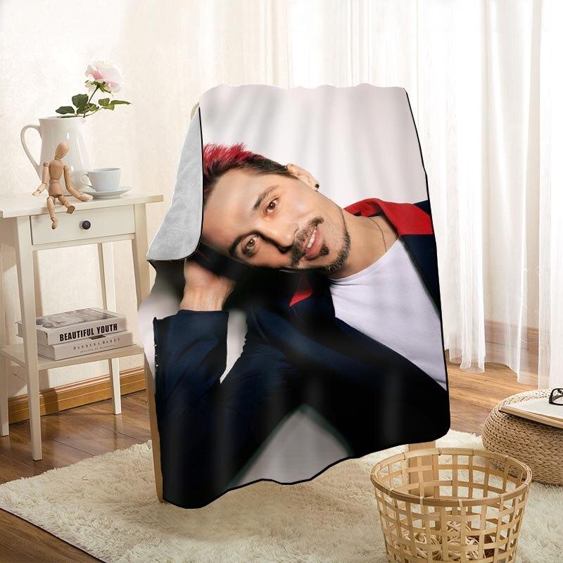 HEARMNY Dima Bilan بطانية دافئ فائق النعومة ستوكات بطانية قماش ل الأريكة رمي السفر بطانية الكبار 0603