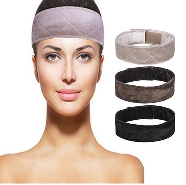 Повязка на голову ручной работы, нескользящая, с двусторонней бархатной регулируемой лентой, коричневый/черный/Блонд