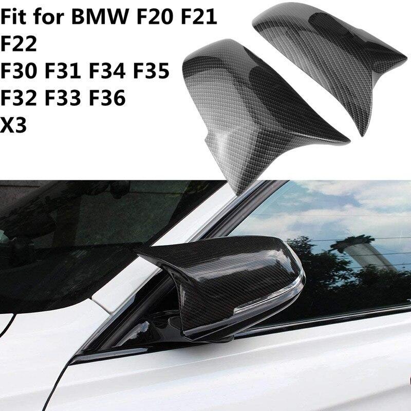1 par cubierta de espejo retrovisor de coche tapa para BMW F20 F21 F22 F30 F32 F36 X1 F87 M3