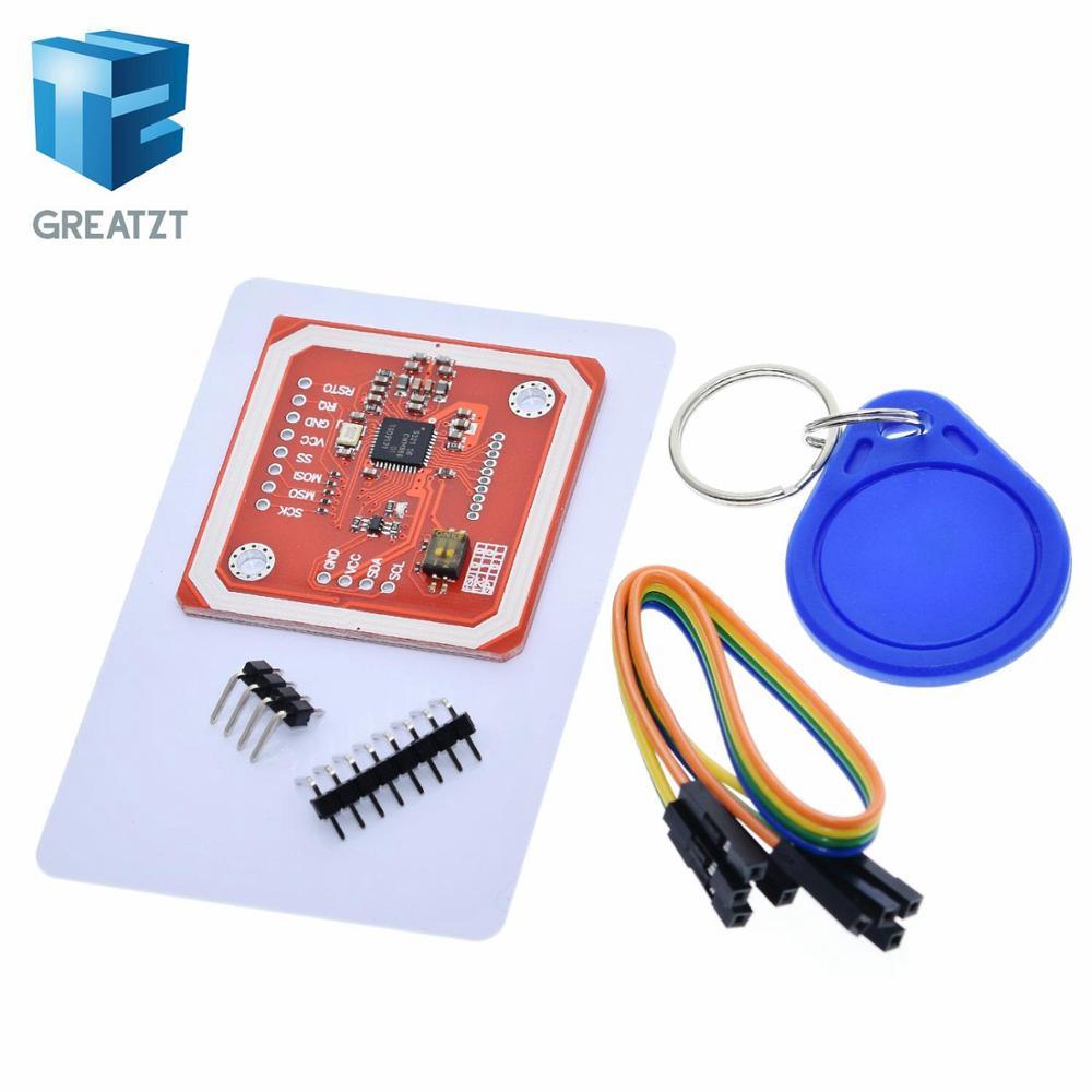 1 juego GREATZT PN532 NFC RFID módulo inalámbrico V3 Kits de usuario lector escritor modo IC S50 tarjeta PCB Attenna I2C IIC SPI HSU para Arduino