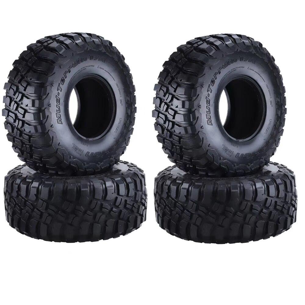 4 шт. 120 мм 2,2 дюйма резиновые шины/колесные шины для 1:10 RC Rock Crawler Axial SCX10 90047 D90 D110 TF2 Traxxas TRX-4