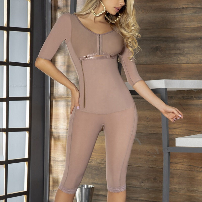 Women's Shapewear Strong Compression Abdomen And Thin Arms Slimming Bodysuit BBL Post Op Surgery Supplies Fajas Colombianas