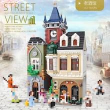 Drunkery ZHEGAO QL0924 Creator MOC Street View Series Old Town Pub  Building Blocks 4030pcs Bricks Toys Sets Compatible Creator