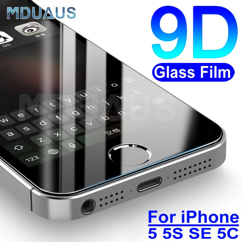 9D Tempered Glass on the For Apple iPhone 5S 5 SE 5C 4 4S Screen Protector 9H Anti-Burst Protective