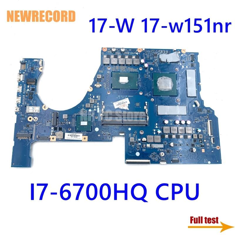 G38D DAG38DMBCC0 862263-601 862263-001 كمبيوتر محمول لوحة رئيسية لأجهزة HP فأل 17-W 17-w151nr N17E-G2-A1 غيفورسي GTX 1070 SR2FQ I7-6700HQ