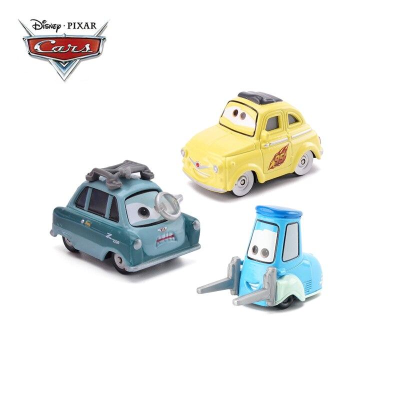 Disney Pixar Autos 2 3 Blitz McQueen Professor Z Luigi Guido Cruz Mater 1:55 Diecast Metall Legierung Modell Auto Junge spielzeug Kind Geschenk