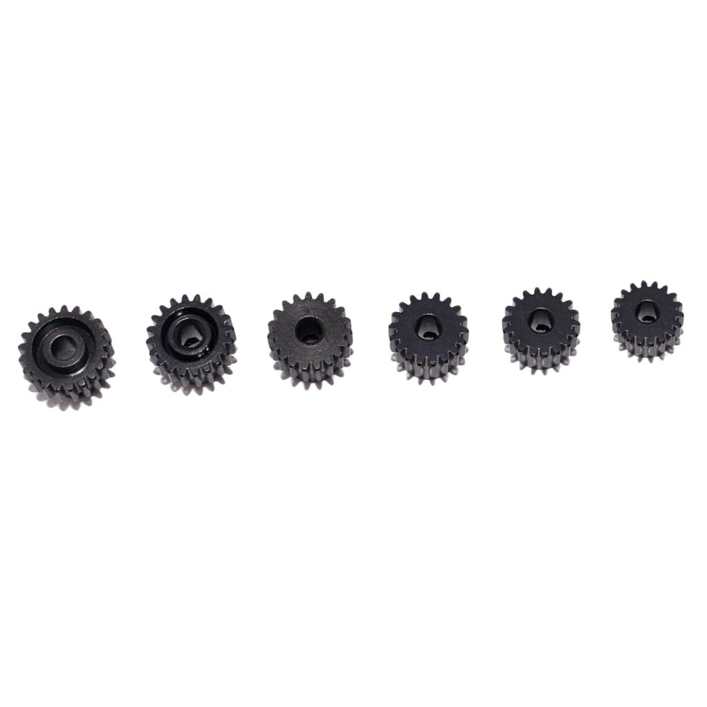 6 pces 48dp 3.175mm 17-22t engrenagem do motor para 1/10 rc carro caminhão motor buggy preto