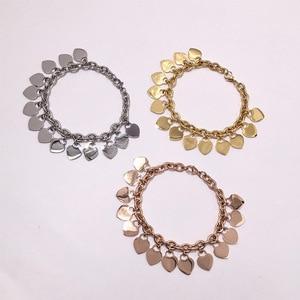 Heart Charms Women Bracelets Titanium Steel Classic Fashion Love Bracelets Jewelry Valentine's Gift Jewelry