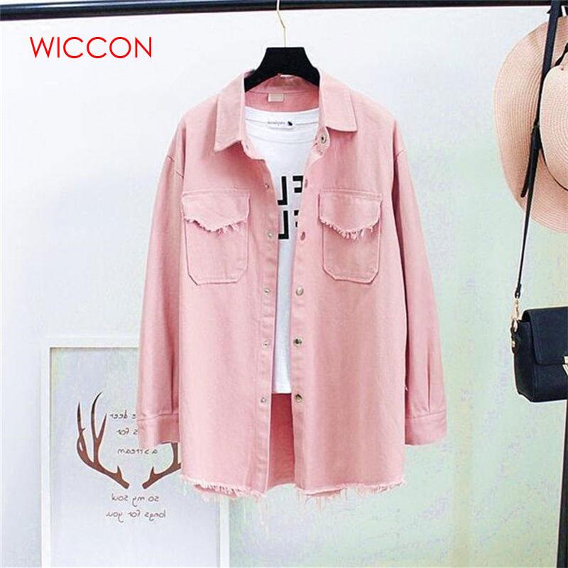 Autumn Spring Denim Blouses Women Korea Fashion Loose Nine Quater Sleeve Shirts Women Tops Jeans Blouse Female Ladies Blusa