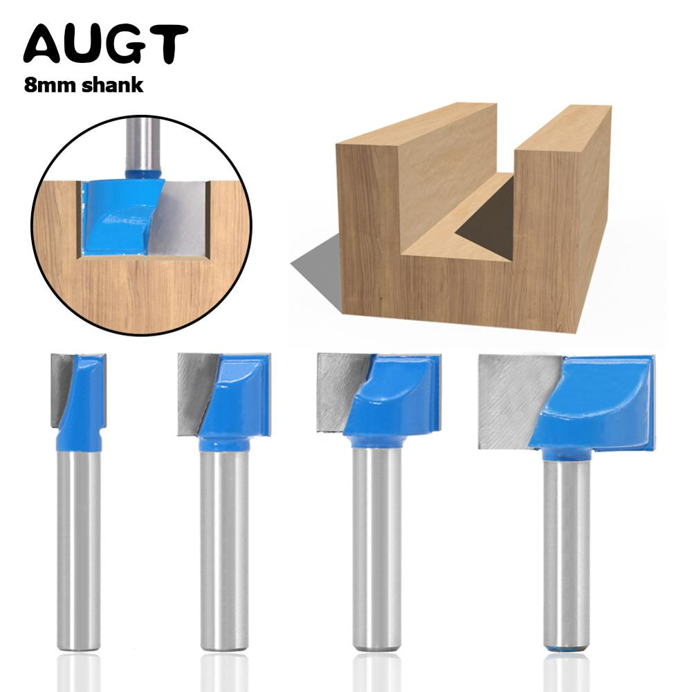 AUGT 8mm Shank Cutters Cleaning Bottom Engraving Bit Solid Wood Carbide Router Bits Woodworking Tools CNC Milling Cutter Endmill augt 8mm shank cutters cleaning bottom engraving bit solid wood carbide router bits woodworking tools cnc milling cutter endmill