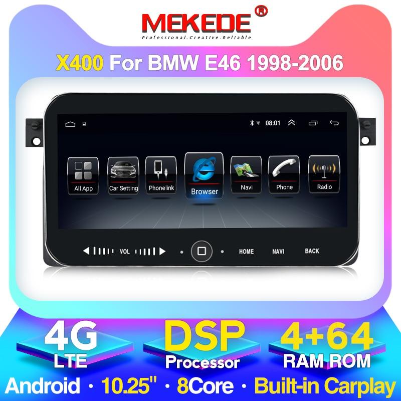 Reproductor multimedia de radio para coche Android MEKEDE para BMW E46 / M3 / 318i / 320i / 325i / 330/335 1998-2006 GPS de navegación 2DIN