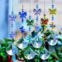 kainai butterfly sun catcher rainbow maker crystal prisms hanging crystal window ornament original design prisms home deco