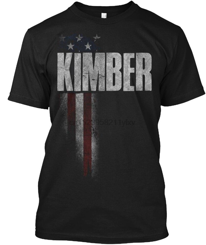 Hombres camiseta KIMBER familia bandera americana Camisetas Mujer camiseta