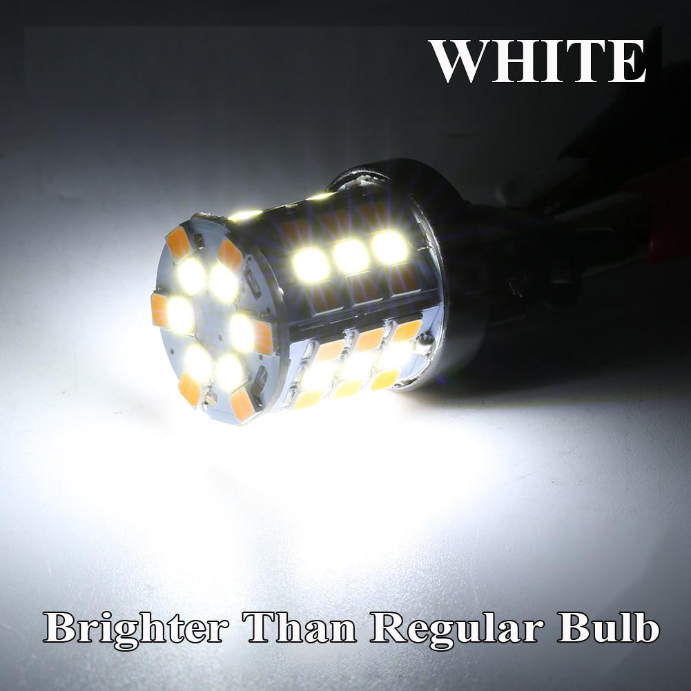 2020 gran oferta Luz de funcionamiento + Luz de señal de giro modo Dual LED luz Exterior blanco/ámbar