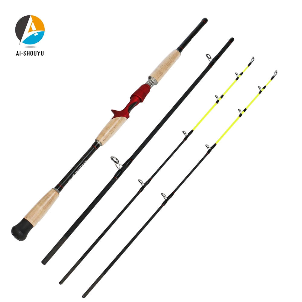 Nuevo señuelo Rod1.8m/2,1 m/2,4 m/2,7 m/3,0 m/M caña de pescar de fundición de carbono, caña de viaje m/XH caña de pescar telescópica de potencia