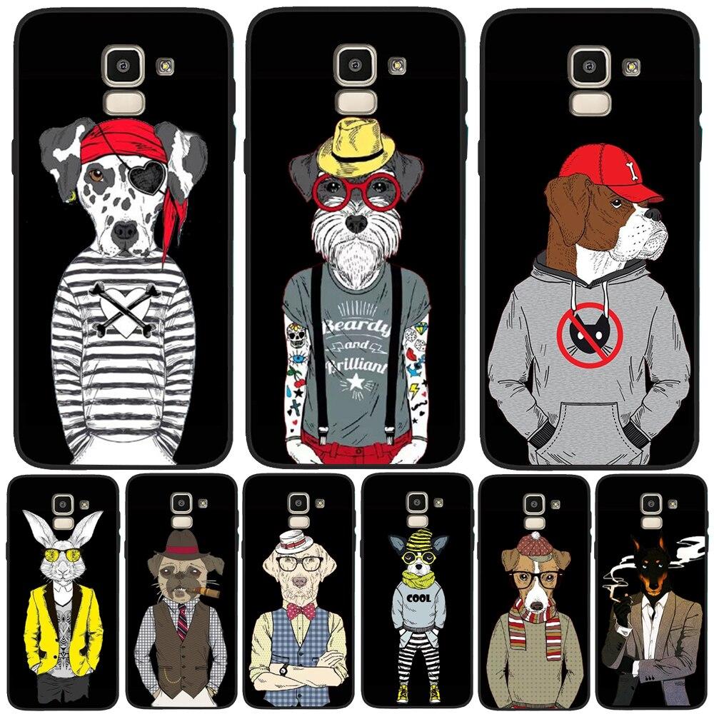 Funda Cool dog rabbit para Samsung Galaxy J3 J5 J7 J4 J6 J8 S11 S11E S10 S8 S6 S7 S9 Plus Funda TPU silicona suave