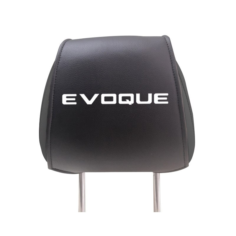 Cubierta para reposacabezas de asiento de coche para Land Rover Evoque fundas de asiento de cuero PU con bolsillos accesorios para automóviles