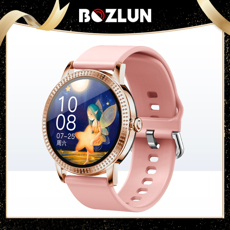 Bozlun اللمس الكامل زوجين ساعة ذكية مقاوم للماء معدل ضربات القلب BP رسالة و دعوة تذكير الرياضة النساء Smartwatch ربط أندرويد IOS