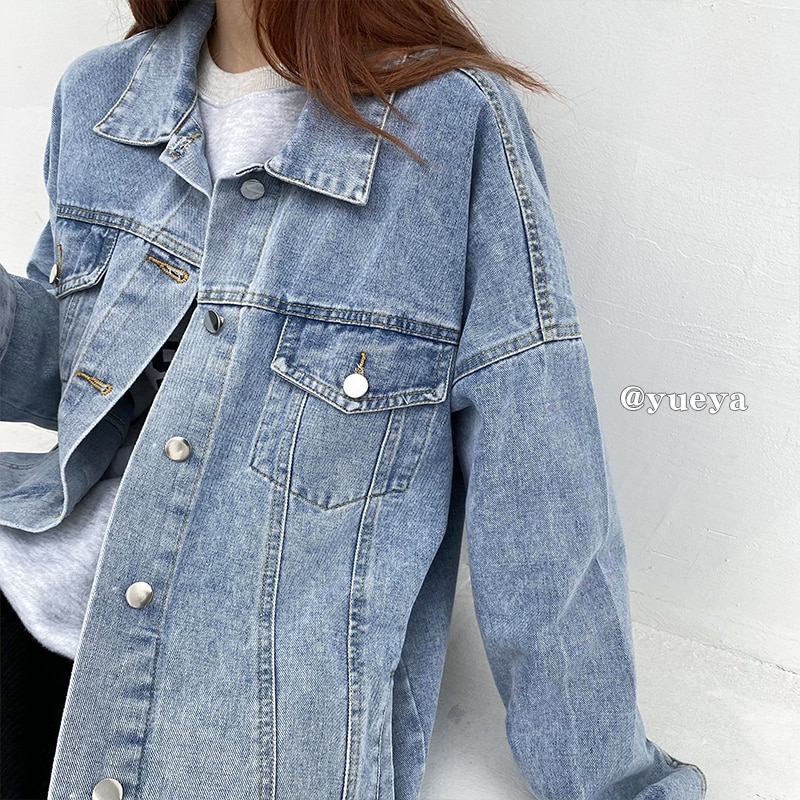 Crescent City Denim Jacket for Women Autumn and Winter 2020 New Korean Style Loose All-Match Single-