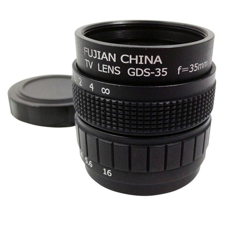 RISE-lente de TV/lente CCTV para cámara de montaje C 35mm F1.7 en negro