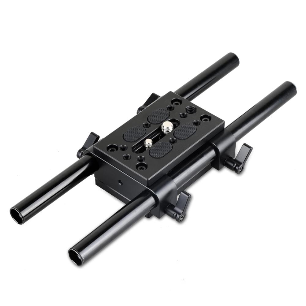 SmallRig Camera Mounting Plate Tripod Monopod Mounting Plate with 15mm Rod Clamp Railblock for Rod Support / Dslr Rig Cage-1798 enlarge