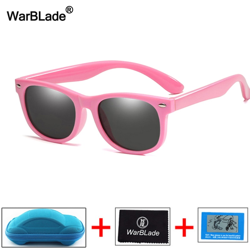 New Kids Polarized Sunglasses Children Boys Girl Sun Glasses Silicone Safety Glasses UV400 Eyewear B
