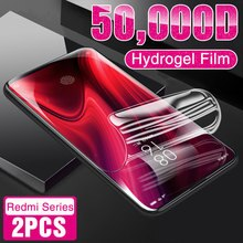 2Pcs Hydrogel Film on the For Xiaomi Redmi Note 9S 9 10 Pro 7 8 K30 K20 8T Screen Protector For Redmi 8 8A 9 9A 7 7 (Not Glass)