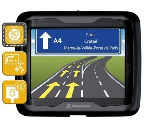 "Navman f360-navegador gps com mapa de 23 países da europa (pantalla de 3,5 "") [importação de francia]"