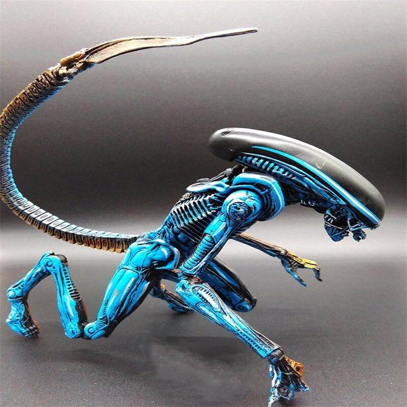 NECA-figura de Alien Xenomorph azul, juguete de Alien, Alien azul, Xenomorph, figma...