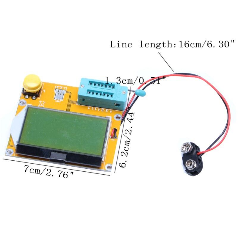 Probador LCR-T4 Transistor diodo triodo capactitancia ESR LCR Metro MOS PNP NPN 37MB