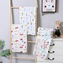 110*120cm cobertor de musselina de bambu algodão bebê swaddles macio recém-nascido cobertores banho gaze infantil crianças envoltório sleepsack carrinho de criança capa