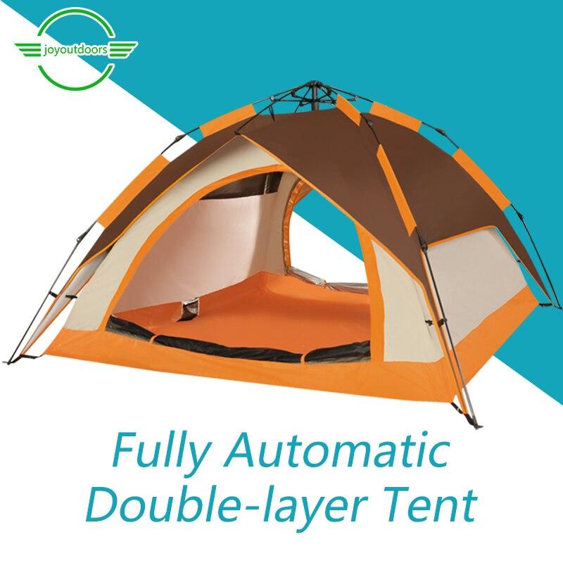 Tienda automática rápida de doble capa impermeable protección ultravioleta familia exterior Camping pareja Ultra ligero 3-4 persona tienda