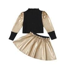 2 Pièces Automne Hiver Fête Enfants Vêtements Pour Bébé Fille Mode Tricot Hauts Pullover Tutu Robe Tenues Costume Enfant En Bas Âge Fille Vêtements Ensemble