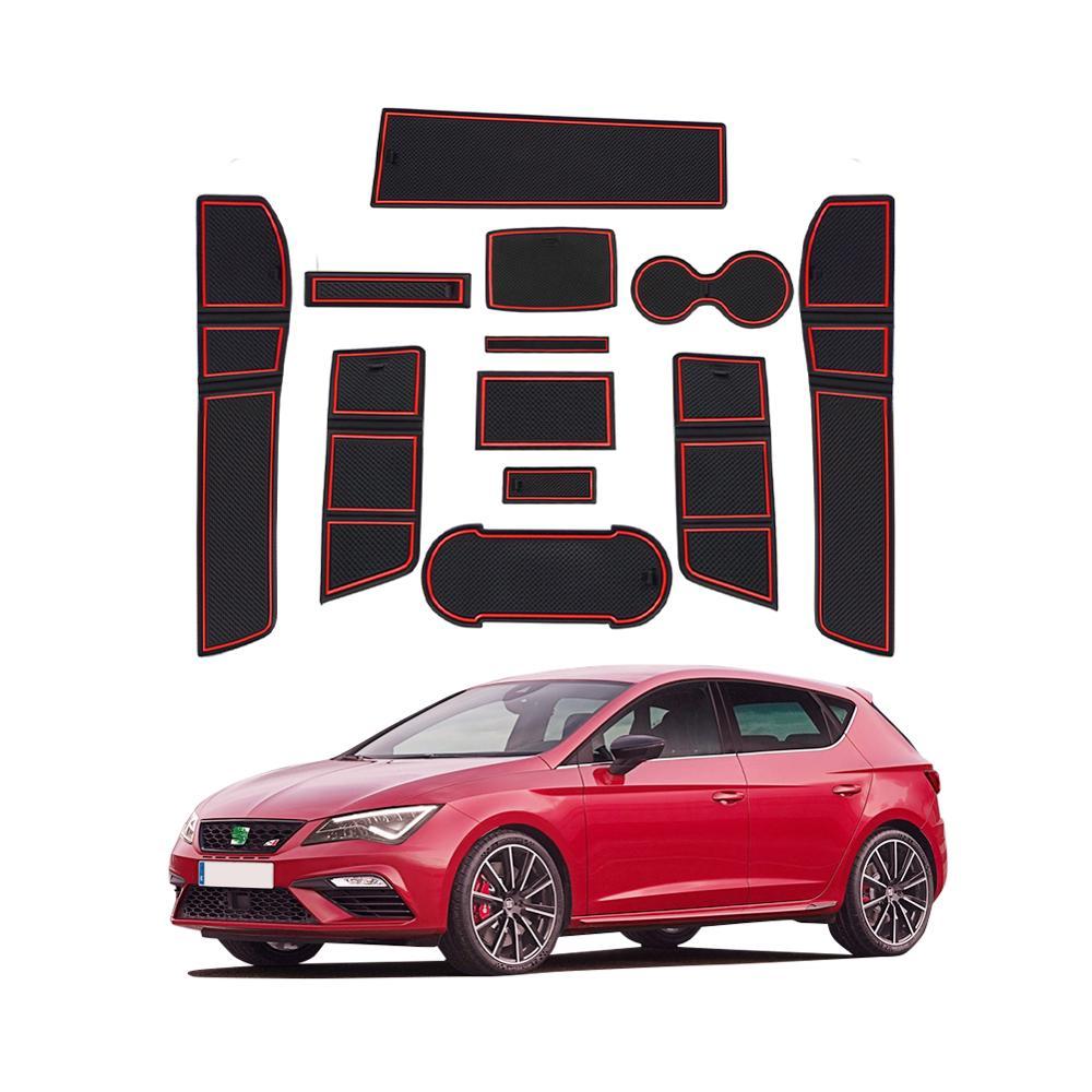 RUIYA Коврик для двери SEAT Leon Cupra 5F 2018 2019 2020 автомобильный Противоскользящий пылезащитный коврик ворот автомобильные аксессуары интерьера