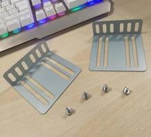 Frame 2 Din Car Radio MP5 Installation Kit Mounting Accessories Holder Support 2 Bracket 4 Screw Quick Installation Tools