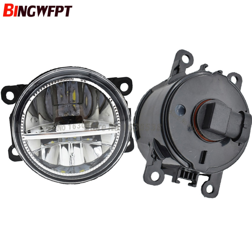 2xCar Styling 12V Powerful External 90MM LED Fog Light For Focus MK2/3 Fusion Fiesta MK7 Automobiles H11 Socket Halogen Lamp