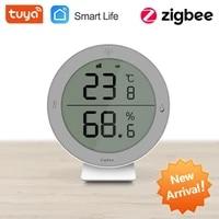 Tuya Wifi Maison Intelligente ZigBee Capteur De Temperature Et Dhumidite Avec ECRAN LED Fonctionne Avec Assistant A Domicile Et Tuya Zigbee Moyeu